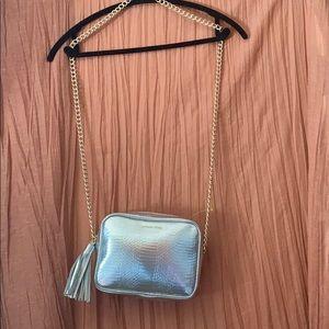 Victoria Secret Crossbody Silver Purse! NWOT